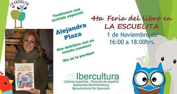 4ta feria del libro con Alejandra Plaza.