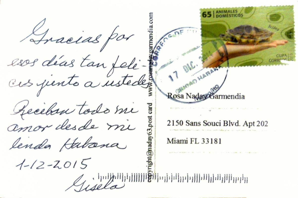 06-Traveling to Cuba postcard project