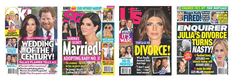 ok!, star, us weekly, national enquirer