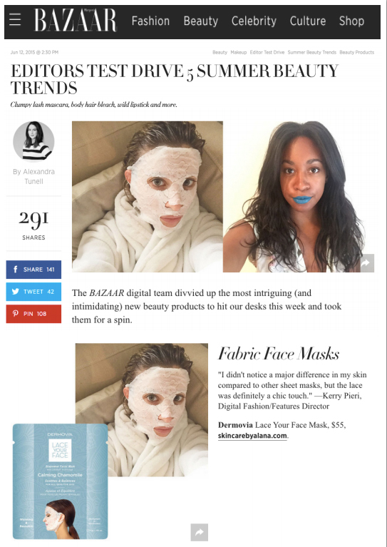 Harper's Bazaar: Dermovia