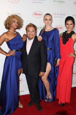 Designer Alexis Monsanto and muses