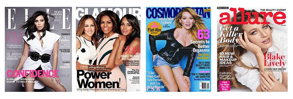 ELLE, glamour, cosmopolitan, allure magazine