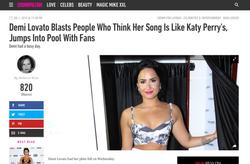 Cosmo: Demi Lovato in Sabo Skirt
