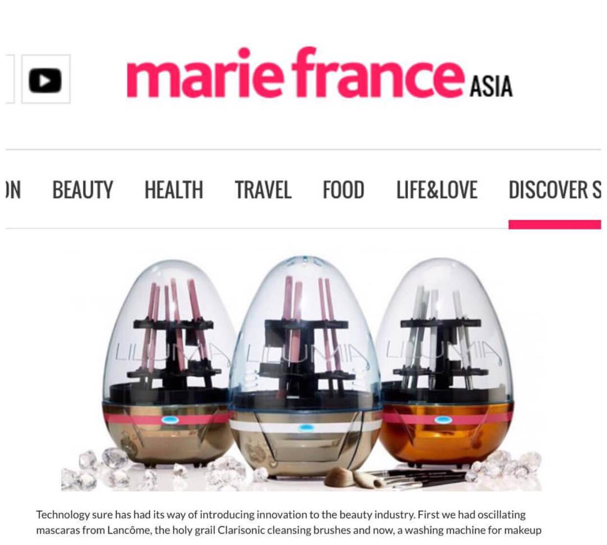 Lilumia in Marie France Asia