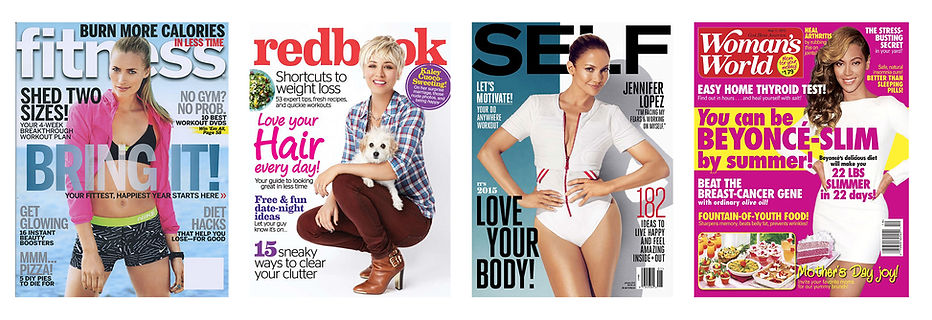 fitness, redbook, self, womans' world
