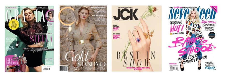 grazia, california style, jck, seventeen magazine