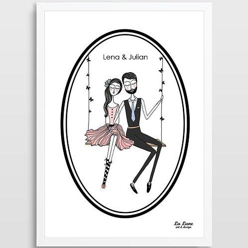 Spersonalizowany Plakat Zakochani 2