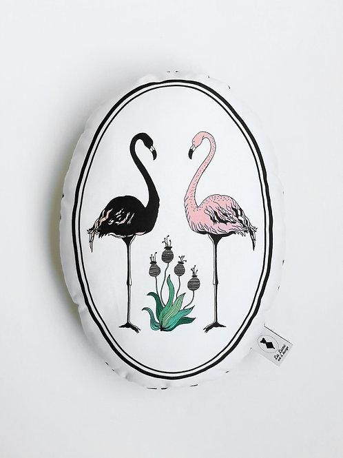 Poduszka dekoracyjna La Lune - Flamingi