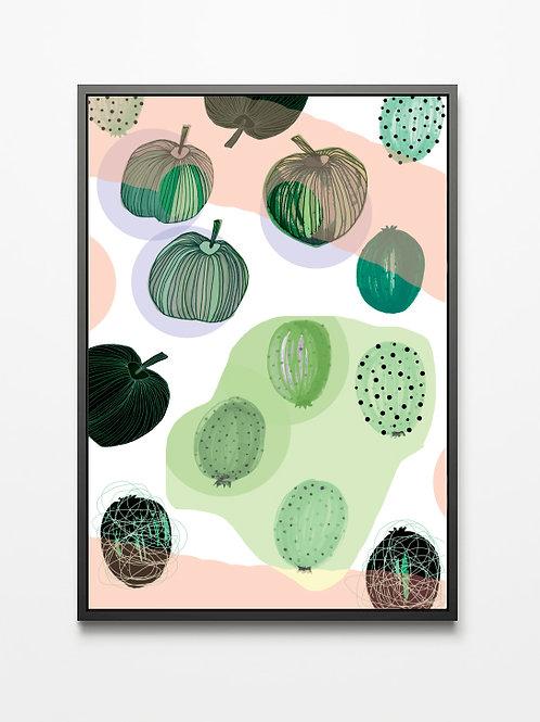 Plakat Owoce (róż)