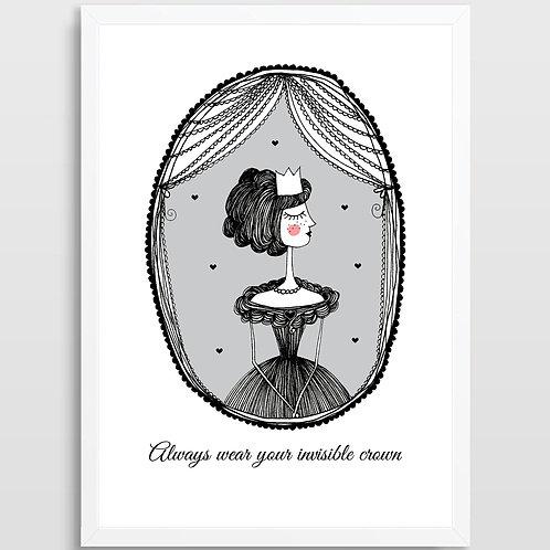Plakat Królewna (serca)