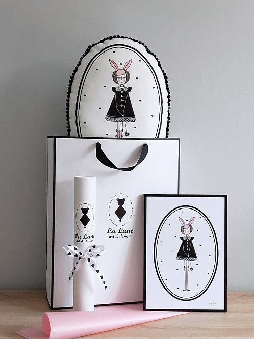 Zestaw Króliczka Sisi poduszka + plakat