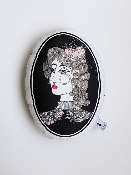 Poduszka dekoracyjna La Lune - Dama z lilią