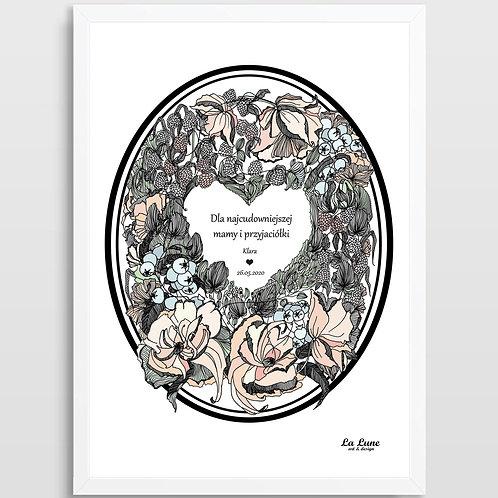 Spersonalizowany Plakat Wieniec Dzień Matki