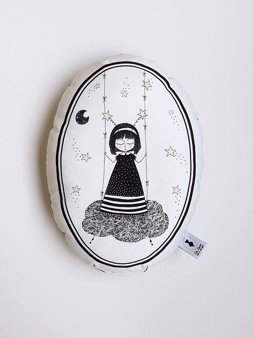 Poduszka dekoracyjna La Lune - Mała Marzycielka