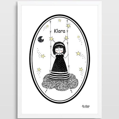 Spersonalizowany Plakat Mała Marzycielka
