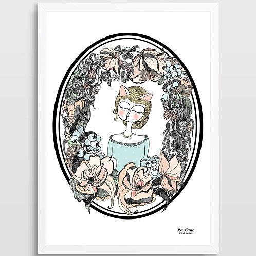 Plakat Kobieta Kot