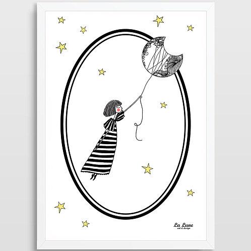 Plakat Dziewczynka z Księżyca