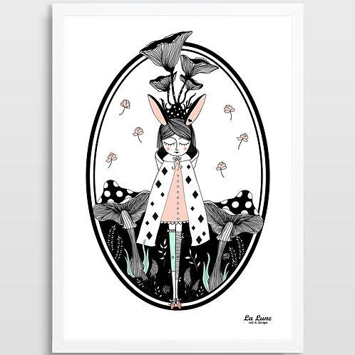 Plakat Magiczny Las (róż)