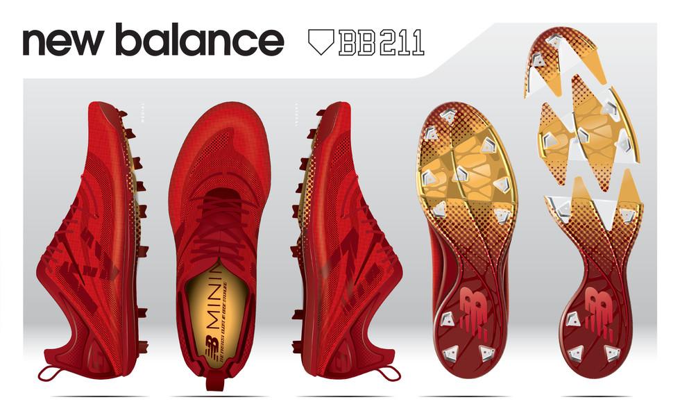New Balance BB211 Baseball Cleat