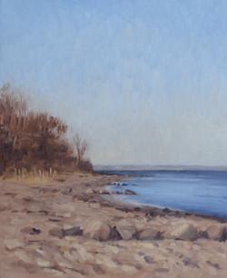Landskabsmaleri-studie-Moesgaard-Strand