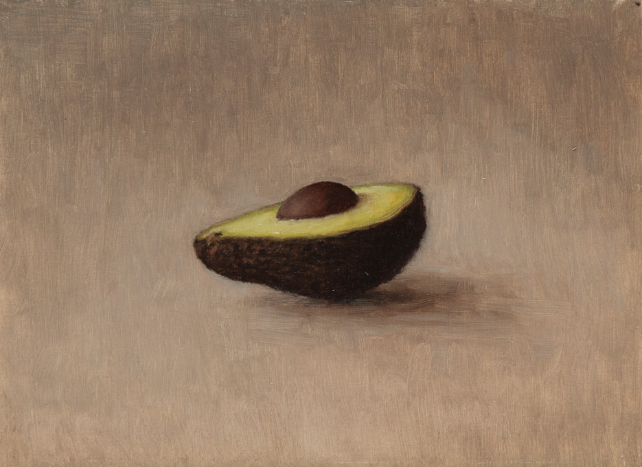 Lille-oliemaleri-studie-Avocado-