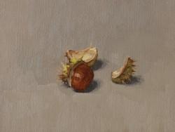 Lille-oliemaleri-studie-Kastanje