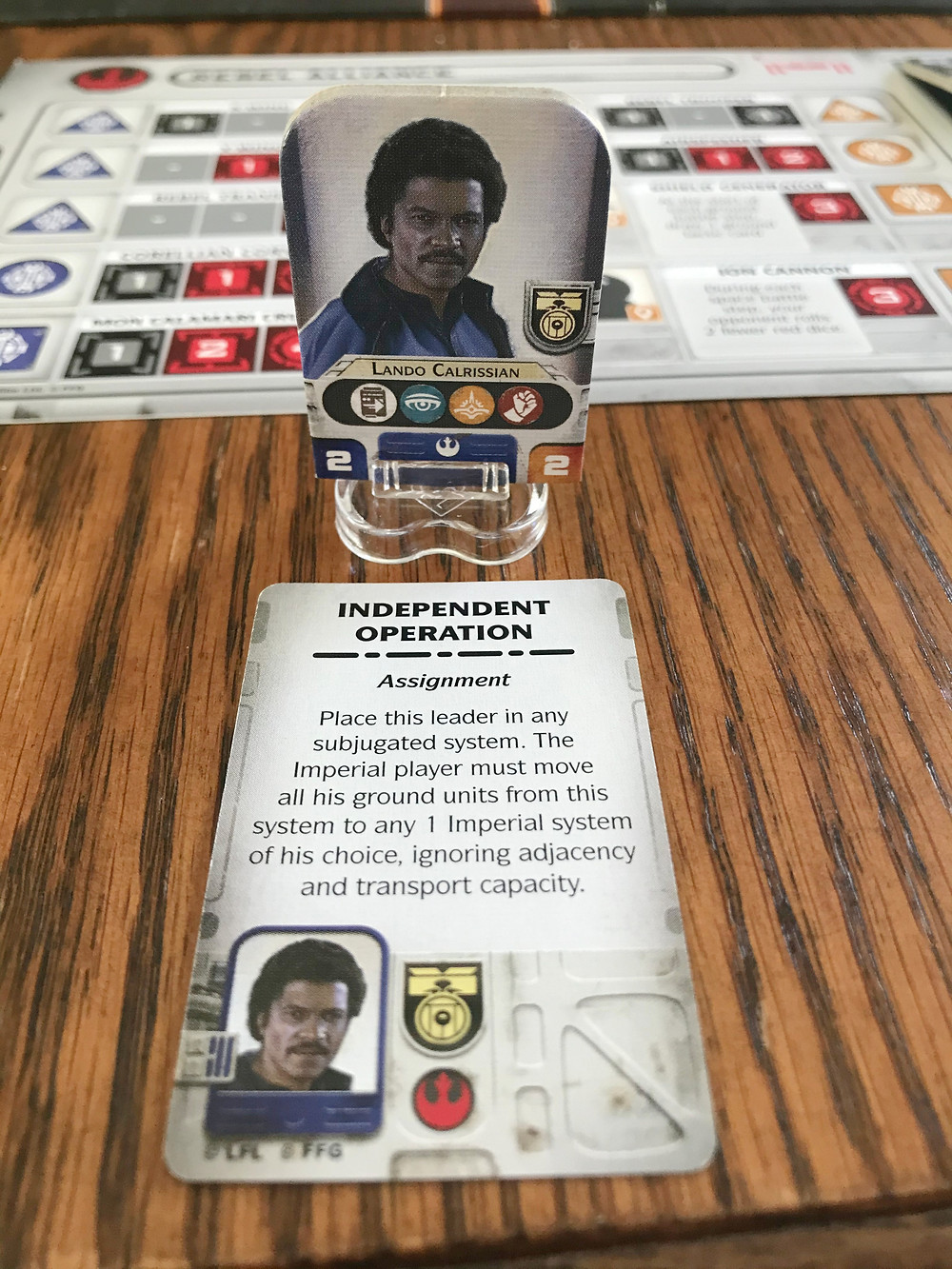 Lando's a jack-of-all trades, just look at those skill icons! He can do literally anything!