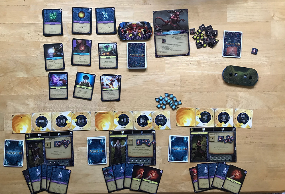 Aeon's End set up for three players