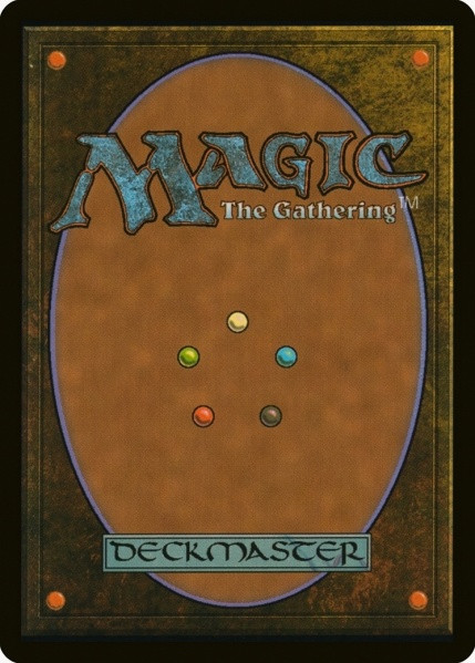 Image copied from https://mtg.gamepedia.com/File:Magic_card_back.jpg