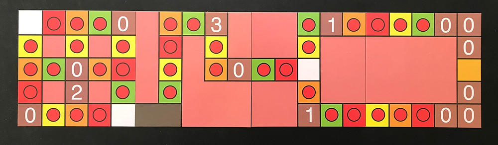The board is modular, though. You can arrange it however you like, and the boards are double-sided!