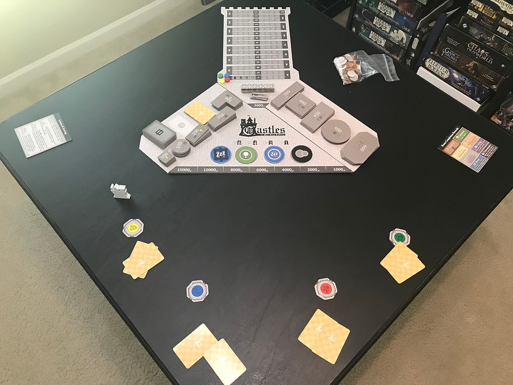 These players picked a table that's waaaaay too small for this game. They are absolutely going to run out of space about an hour in . . .