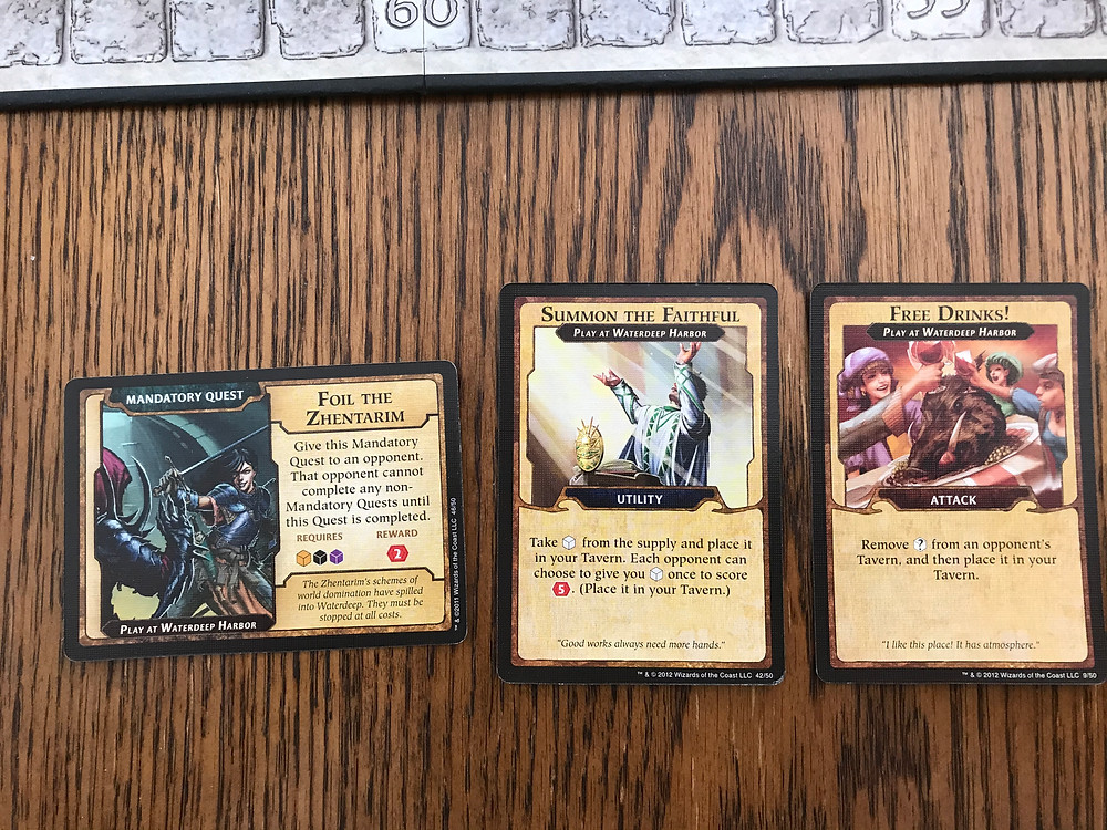 Several Intrigue Cards