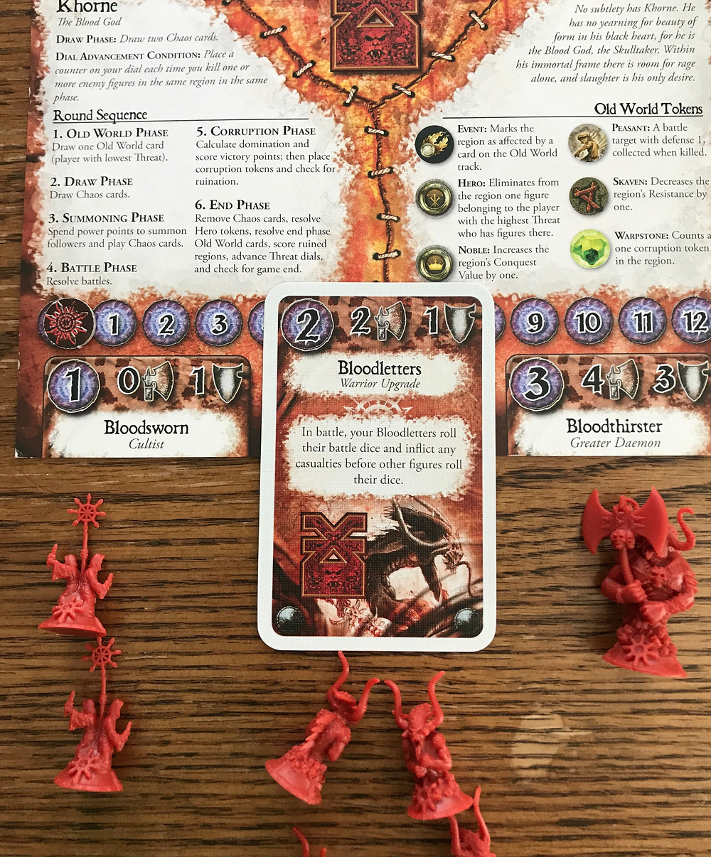 The other three players will really need to work together to keep Khorne from getting too many more dial advancements!