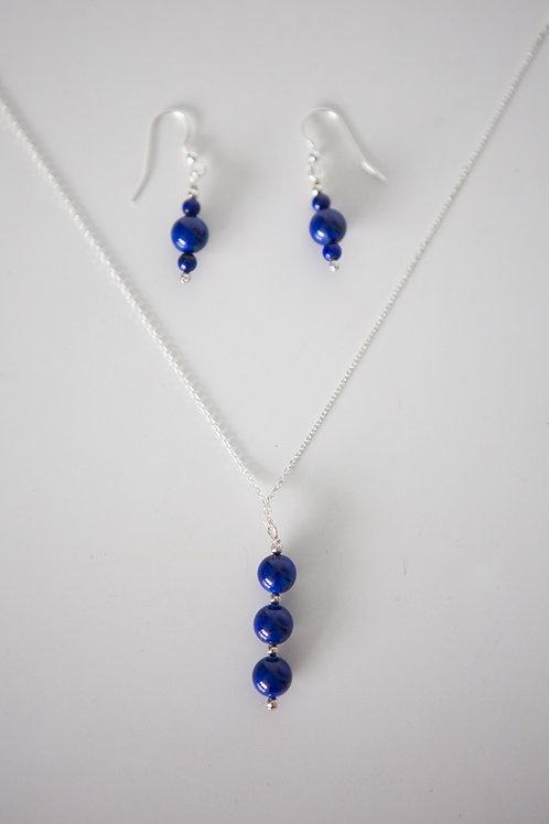 Beaded lapis lazuli set