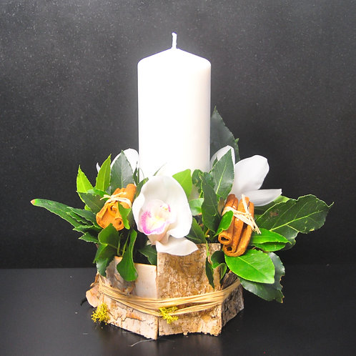 Orchid & Bark Table Centre