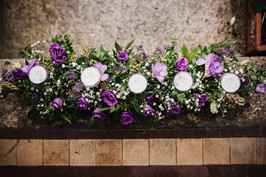 Lilac and Gyp long centrepiece