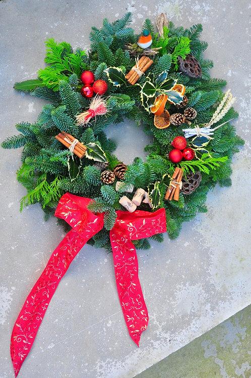 Season's Greetings Wreath