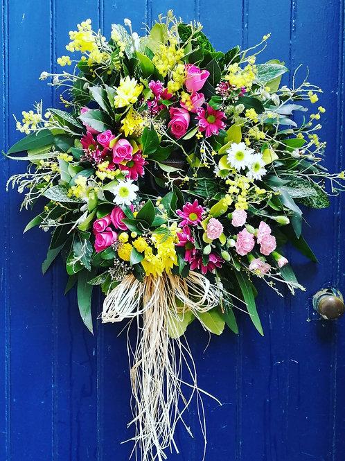 Spring Pink Wreath