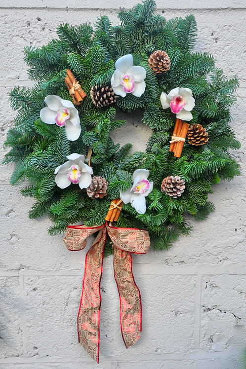 Orchid and Fir Wreath