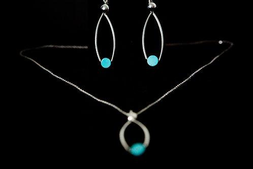 Silver & Turquoise Ellipse Set