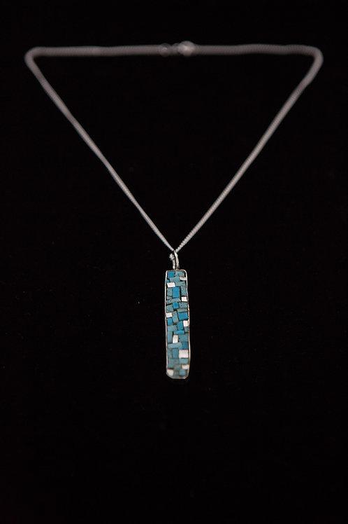Turquoise Byzantine Micro Mosaic Pendant