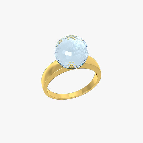 Кольцо Classic 0101, голубой топаз, 10