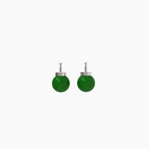 Подвески для серег Basic 6005, зеленый агат, 10