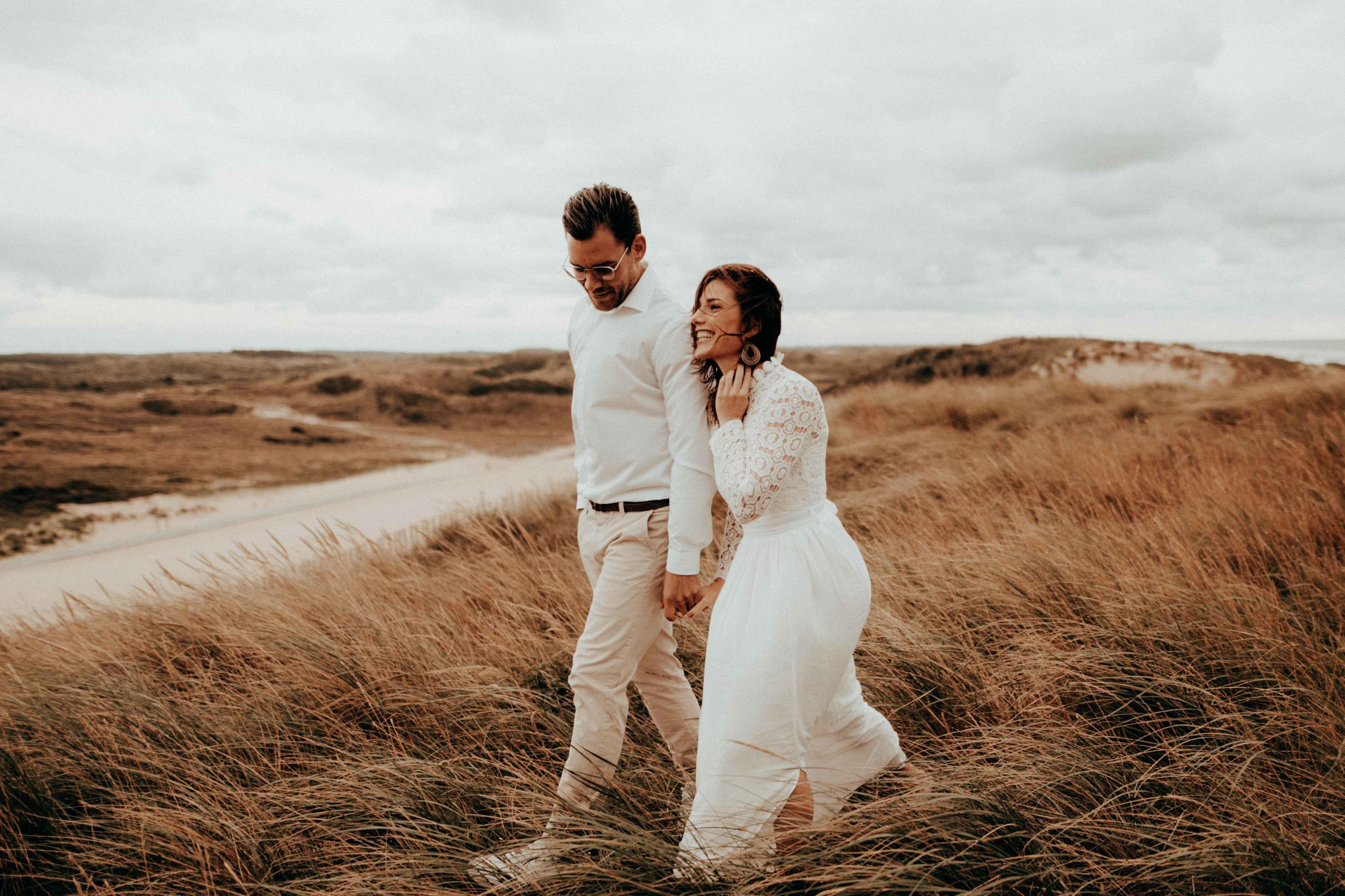 Hochzeitsshoot in den Dünen von Zand