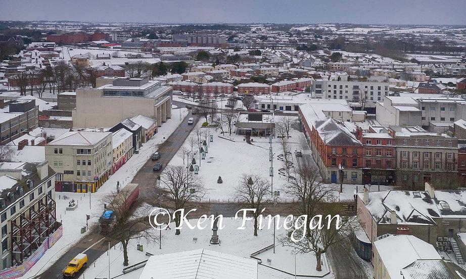 Dundalk Square snow