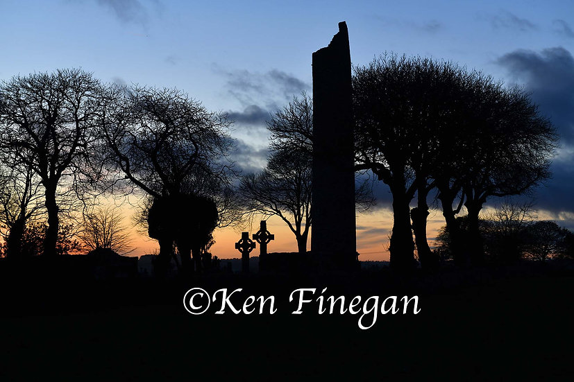 Monasterboice Silhouette, County Louth