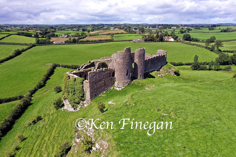 Roche Castle Aerial, County Louth