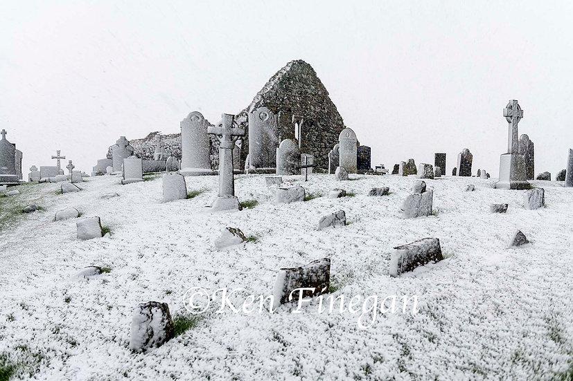 Cill Mhuire in the Snow 1, County Louth