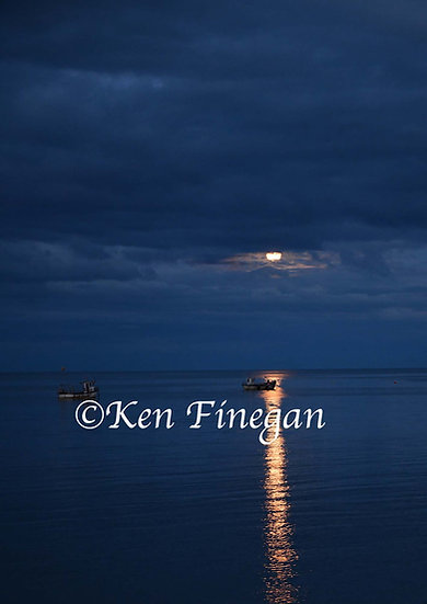 Greenore moon, County Louth