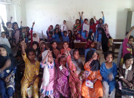 Giving light for 25 families in Sindh Province in Pakistan